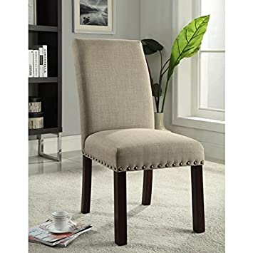 Exceptionnel Living Room Tan Modern Nail Head Parsons Chairs (Set Of 2)