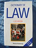 A Dictionary of Law, L. B. Curzon, 0273601016