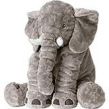 kenmont giant elephant stuffed animal plush soft elephant plush toy, large size 60cm