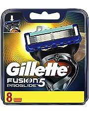 Gillette Fusion5 ProGlide Ostrza wymienne do maszynki, 8 sztuki, technologia FlexBall dopasowuje się do kształtów twarzy