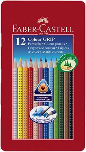 Faber-Castell Tin of 12 Colour GRIP 2001 -