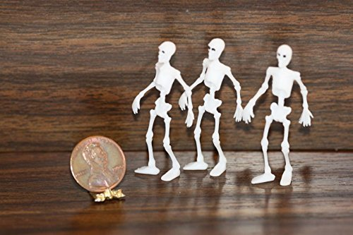 Miniature Skeleton - Dollhouse Miniature Set of 3 Skeletons by Multi Minis