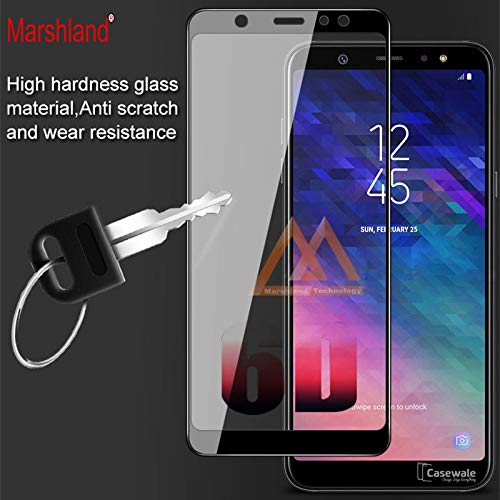 separation shoes a564c a7066 Tempered Glass 6D Full Covered Marshland Screen Protector Anti Scratch Edge  to Edge Tempered Glass Compatible with Samsung Galaxy A6 (Black)