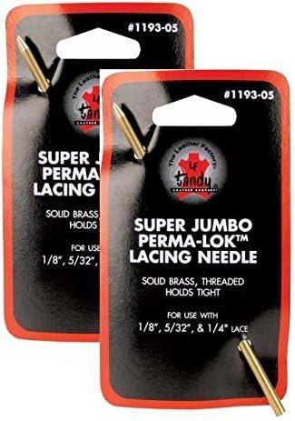 Tandy Leather Perma Lok Jumbo Lacing Needle, 1193-05 -- Two Pack