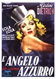 Blue Angel Marlene Dietrich Huge Vintage PAPER Movie Poster Measures 40 x 27 Inches (100 x 70 cm ) approx