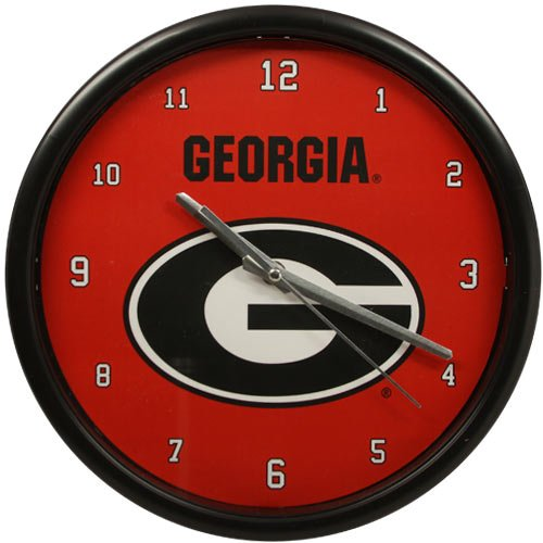 The Memory Company NCAA University of Georgia Official Black Rim Basic Clock, Multicolor, One Size from The Memory Company
