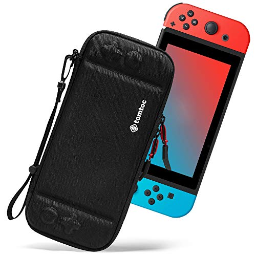 Ultra Slim Carrying Case Fit for Nintendo Switch, tomtoc Original Patent Portable Hard Shell Travel Case Pouch Protective Cover, 10 Game Cartridges, Military Level Protection, Black (Best Tomtom For The Money)