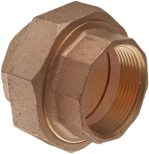Merit Brass Lead Free Brass Pipe Fitting, Union, Class 125, 1'' National Pipe Taper Thread Female (Pack of 5) by Merit Brass