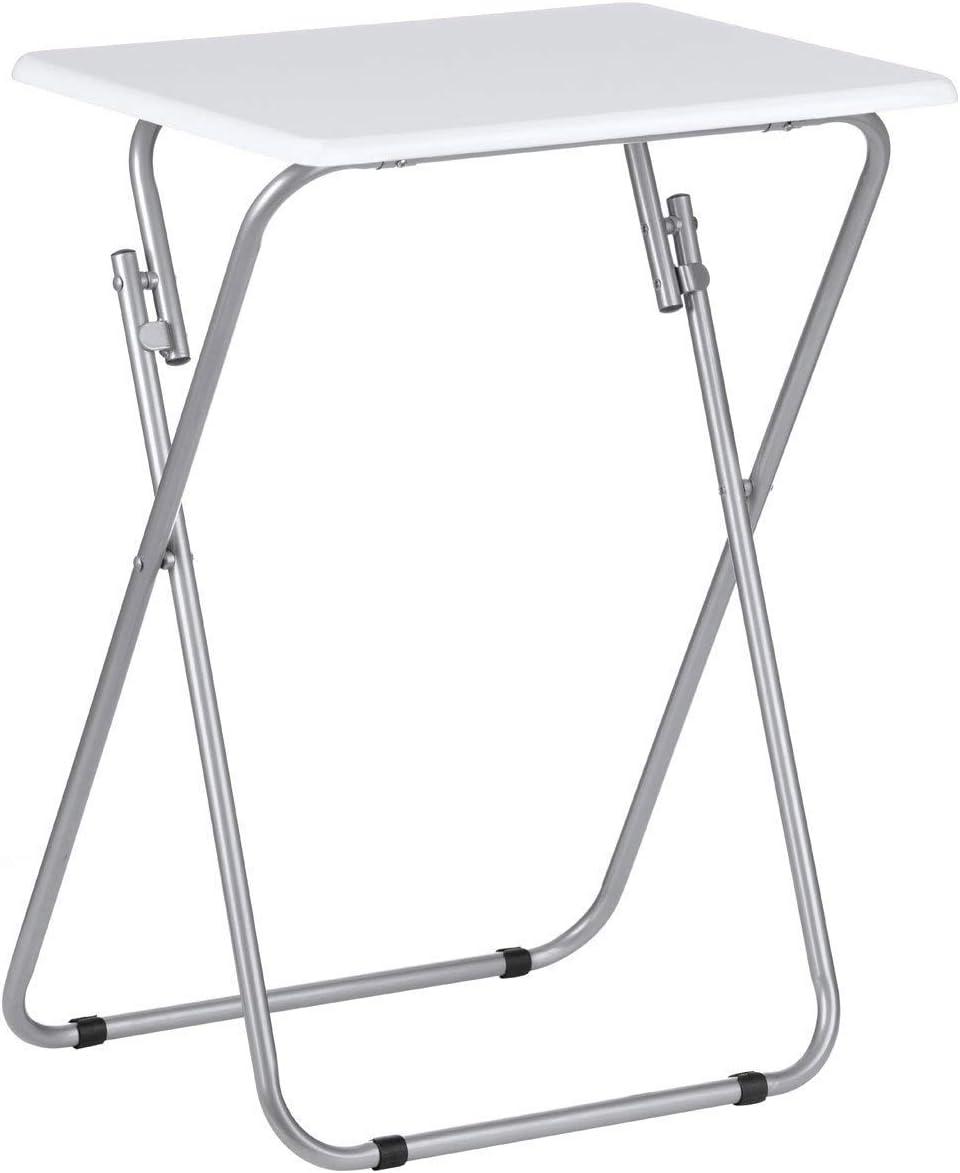 Kachhu/® FOLD Gloss Folding TV//Craft Table Height 66 cm x Wdith 48 cm x D 38 cm White