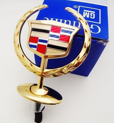 Hood Cadillac Ornament (Cadillac Deville Hood Ornament Gold Plated 24K)
