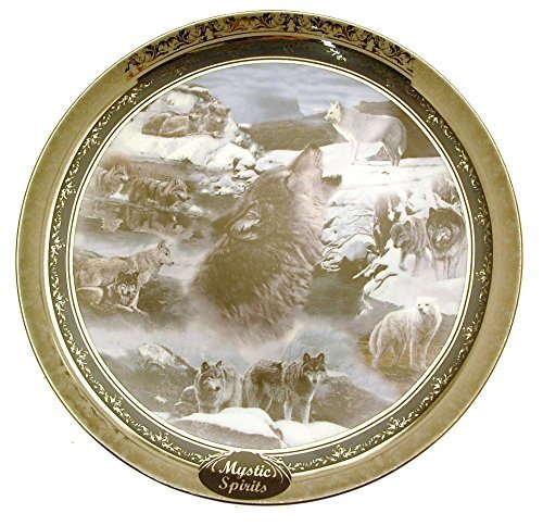 Bradford Exchange Mystic Spirits Dan Smith Terry Isaac Spirit of The Wilderness Wolf Plate LE 4900 12 inches HJ277