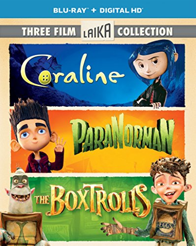 Three Film Laika Collection (Coraline / ParaNorman / The Boxtrolls) [Blu-ray] -