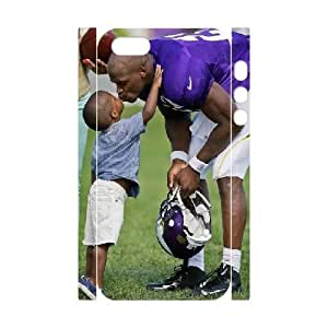 3D Yearinspace Adrian Peterson, Get A Kiss From His Son Case For IPhone 5,5S Fashion, Phone Case For Iphone 5s For Teen Girls Protective With White