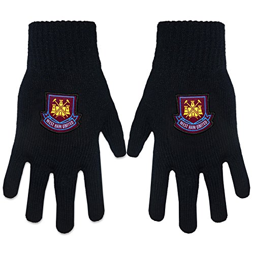 West Ham United Football Club Official Soccer Gift Adults Knitted Gloves