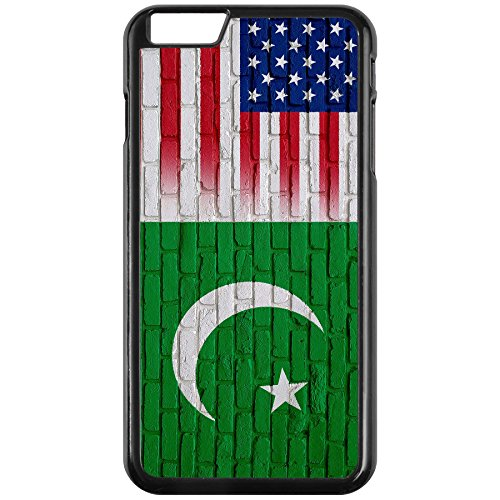 Case - iPhone 7 with Flag of Pakistan - Bricks w USA Flag - Durable Rigid - W Pakistan