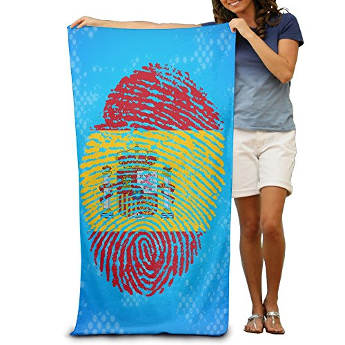 Fingerorint Creative Spain Flag Adult Bath Beach Towel Beach Swimming Towels 30x50 Inches by JaneDesign