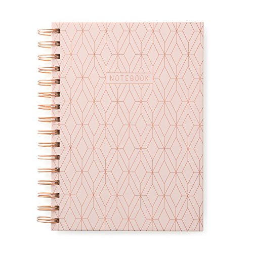 DesignWorks Ink Twin Wire Bound Journal, Copper Geo -