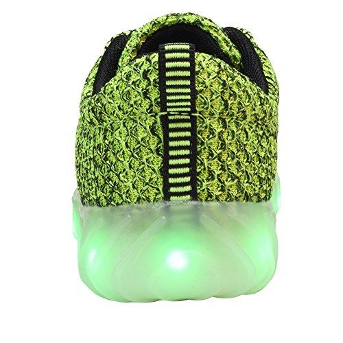 sale retailer b41f0 122cb ... YILAN Kleinkind   Kinder   Womens led Schuhe wiederaufladbare  beleuchtete Turnschuhe D-grün ...