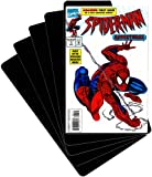 (30) Comic Book Divider Cards - SLOPED LESSER CUT - Black, Heavy Duty 40mil - 7'' x 11'' - #CXNS11BK40DI
