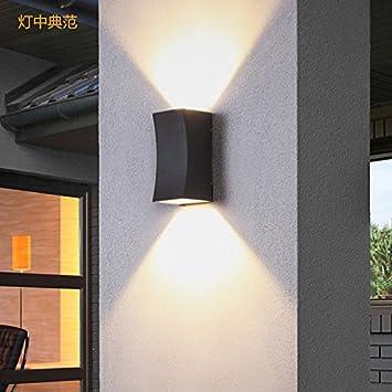 Moderna Retras Creativas Lámpara De Pared Para Sala De Estar,Dormitorio,Pasillo Luz Exterior Jardín Exterior Pasillo Luz Creativo Impermeable Balcón Exterior Doble Luz De Pared Flash Plata Negro: Amazon.es: Bricolaje y herramientas