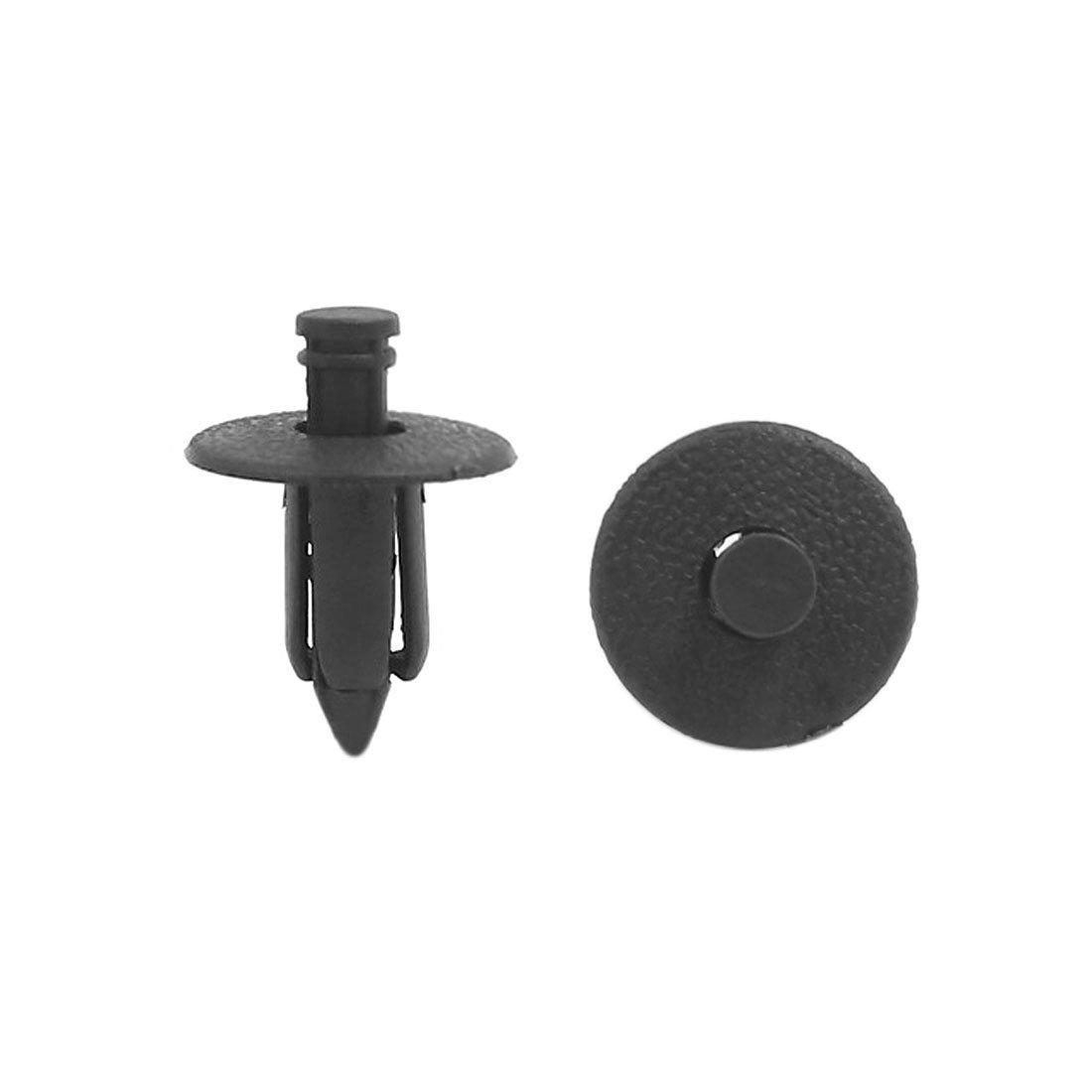 sourcingmap® 30pz nero il rivetto di plastica di fissaggio del rivestimento clip di stampaggio 7 x 12 x 17mm sourcing map a16062100ux0344