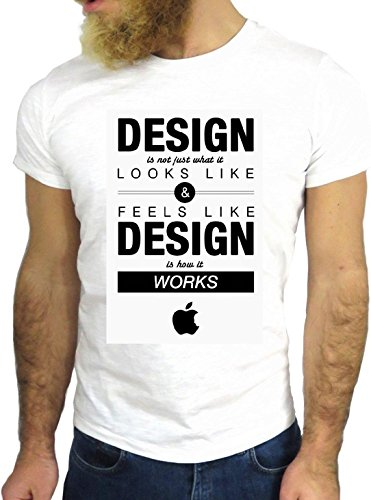 T SHIRT JODE Z1496 DESIGN LOOK FEEL LIKE WORK LIFESTYLE FUNNY COOL FASHION NICE GGG24 BIANCA - WHITE XL