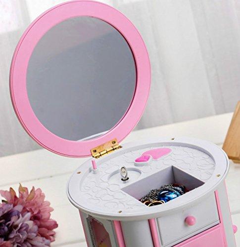 Viel Spaß mit Kommode Kosmetikkoffer Spieluhr mit Spaß Schminkspiegel für Mädchen-Pink f4be27