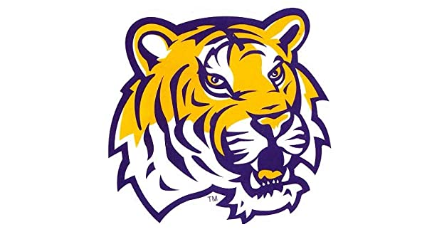 Amazon.com: 4 inch Mike The Tiger Decal LSU Tigers Louisiana State  University Logo LA Removable Wall Sticker Art NCAA Home Room Decor 4 by 3  1/2 inches: Baby