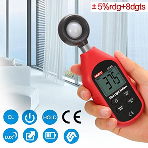Xligo UT383 Mini Digital Luxmeter Light Meter Environmental Testing Equipment Handheld Type Illuminometer Photometer ()
