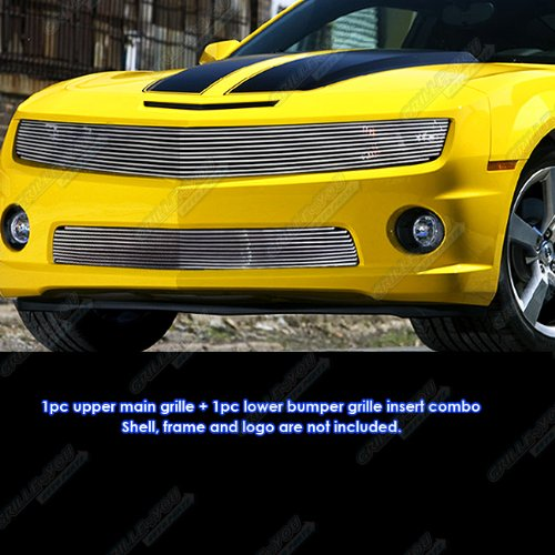 Fits 2010-2013 Chevy Camaro Phantom Style Billet Grille Grill Insert Combo