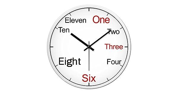 Amazon.com: Jedfild Piano classroom wall clock mute silent Wall Clocks wall chart, 12