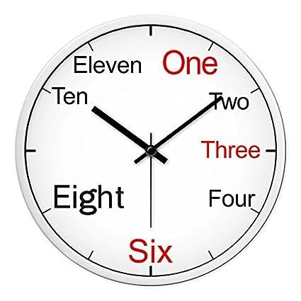 Relojes Reloj de pared reloj moderno creativo de Dibujo gráfico de pared relojes de cuarzo dormitorio