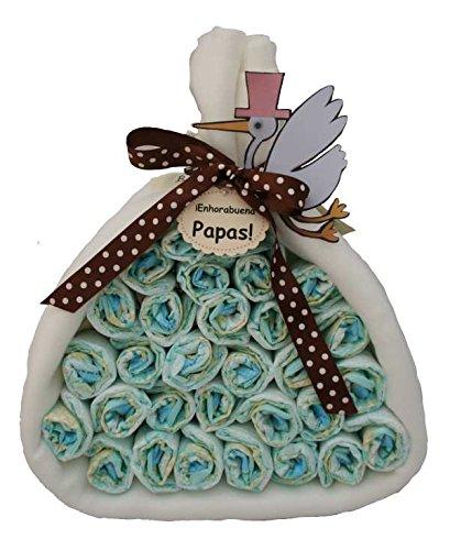 Pirámide de pañales, tarta de pañales ideal como regalo para ...