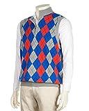 Greg Norman Men's Argyle 1/4 Zip Mockneck Sweater Vest (2X-Large, Bullseye Heather)