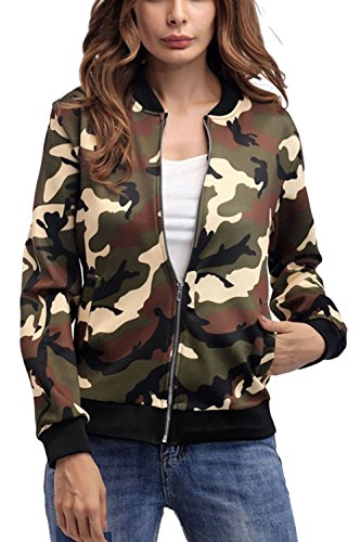 Veste De Camouflage des Occasionnels Col De Vestes Militaires Green