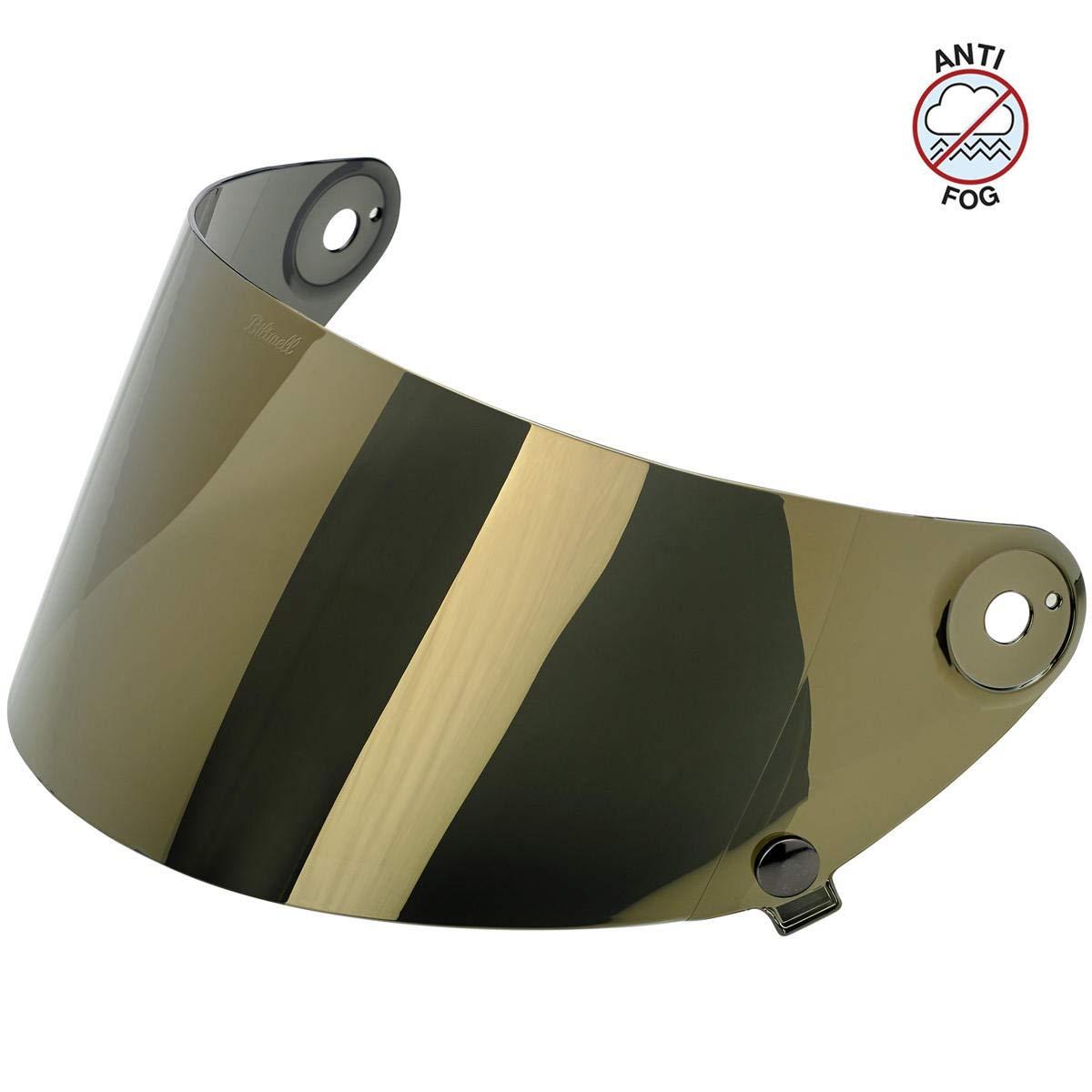 Biltwell Unisex-Adult (SA-GLD-GS-SD) Gringo S Flat Shield-Gold Mirror Anti-Fog, One Size) by Biltwell