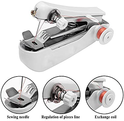 1PC Mini máquina de coser Patchwork Overlock DIY Bolsillo portátil ...