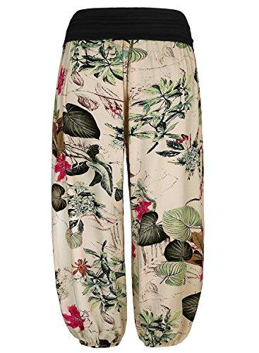 Baishenggt Pantaloni Floreale Nggt Apricot Damen Lunghi Pumphose Motivo Baishe Harem RwrRPxq1F