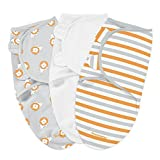 Summer Infant SwaddleMe 3-Pack Cotton Grey Lions, Small/Medium