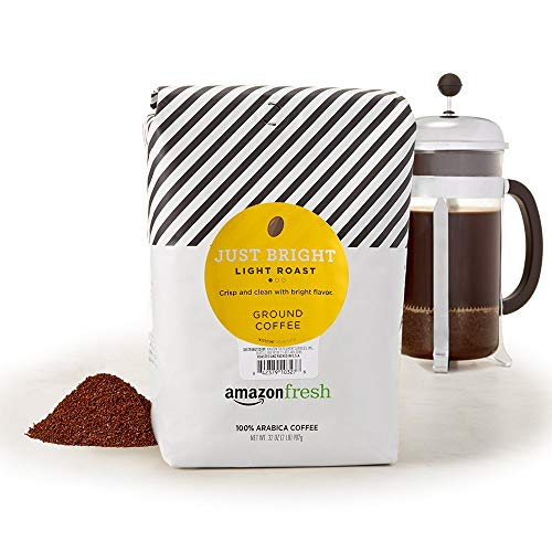 AmazonFresh Just Bright Ground Coffee, Light Roast, 32 Ounce (Pack of 1)
