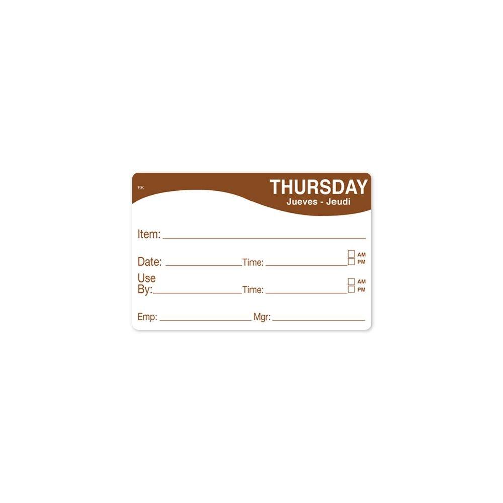 DayMark 1124674 ReMark 2 x 3 Thursday Day Label - 500 / RL