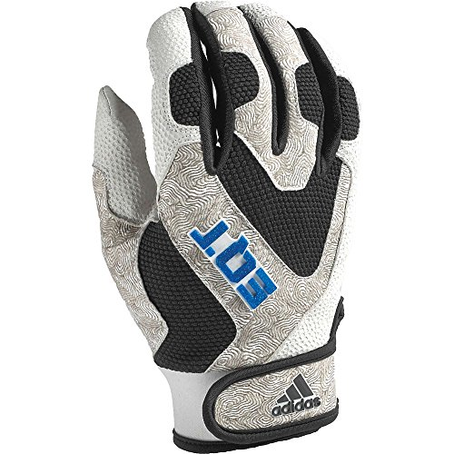 Adidas EQT Adult Batting Gloves - Medium White/Black