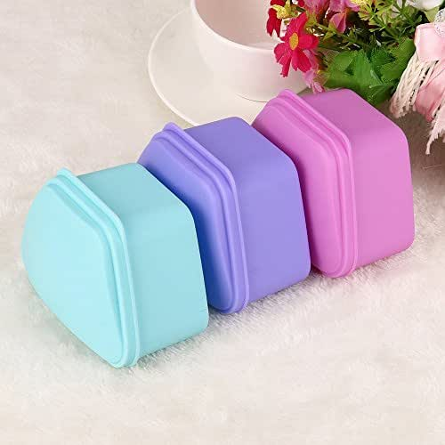 Dentures Box Denture Brush Retainer Case Dentures Container Premium Mouth Guard Box for Travel, Retainer CleaningDenture Bath Appliance False Teeth Box Storage Case Rinsing Basket