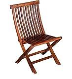 JS Home Decor Sheesham Wood Comfort Folding Chair (Natural Finish Malanine)