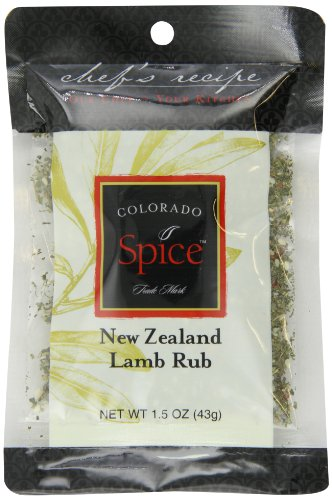 Colorado Spice Company, Beef, Poultry, Pork and Lamb Spice, New Zealand Lamb Rub 1.5-Ounce Packet (Pack of (Company Beef)