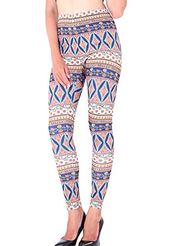 Aztec Costume Uk (CinGr8 Women Winter Xmas Printed Leggings Stretchy Thick Yoga Pants Plus Size)