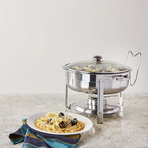 Artisan Stainless Steel Round Buffet Chafer with Glass Lid, 4-Quart Capacity by Artisan (Image #3)