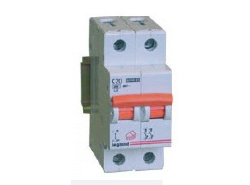 Legrand magnet./dif.vivienda - Magnetotermico vivienda rx3 1 polo+neutro 6ka 20a 419927