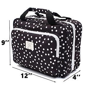 Large Versatile Travel Cosmetic Bag - Perfect Hanging Travel Toiletry Organizer (XL Polka dot)