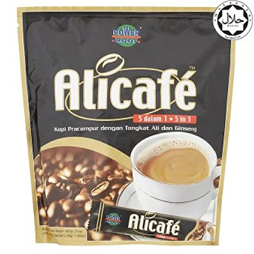 Power Root Alicafé 5 in 1 Tongkat Ali & Ginseng Coffee 600g (628MART) (Premix, 1 Count)